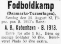 Danmarksmesterskabsturneringen football match advertisement Fyns Venstreblad Odense 27.08.1927.png
