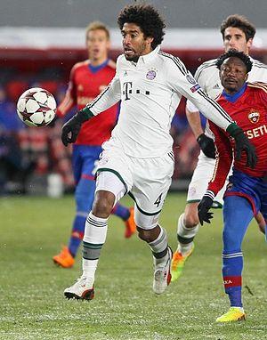 2013–14 FC Bayern Munich season - Dante playing against CSKA Moscow in November