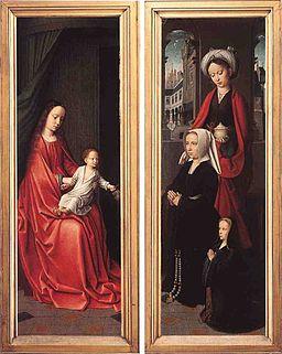 David Triptych of Jean Des Trompes rear