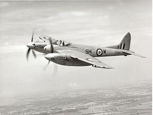 De Havilland Hornet - A de Havilland Hornet F.3 of 64 Squadron.