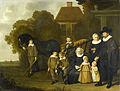 De familie Meebeeck Cruywagen bij de poort van hun buitenhuis aan de Uitweg bij Amsterdam Rijksmuseum SK-A-81.jpeg