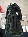 "Debbie Reynolds Auction - 019 - Shirley Temple ""Virginia Cary"" green plaid period dress with jacket from ""The Littlest Rebel"".jpg"