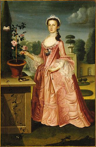 William Williams (artist) - Deborah Hall, 1766, oil on canvas, in the Brooklyn Museum of Art