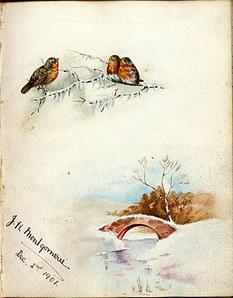 Dalmore House and Estate - Isabella Montgomerie's 1901 Christmas card
