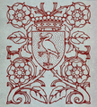 Decoration (in a book) with the Coat of Arms of The Hague.png