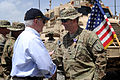 Defense.gov News Photo 110606-D-XH843-026 - Secretary of Defense Robert M. Gates presents the Purple Heart to Lt. Col. Alan Streeter for wounds received when his combat outpost was attacked.jpg