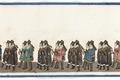 Del av bonad med Karl XIV Johans begravningståg, 1844 - Livrustkammaren - 108209.tif