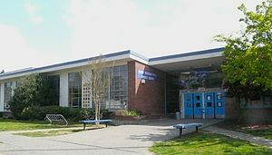 Denny International Middle School - Factory model school building at the school's original location on 30th Ave SW