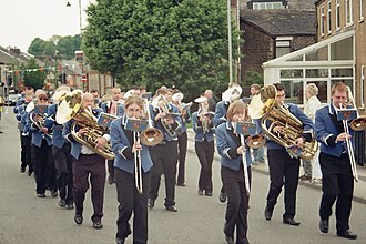 Whit Friday - The Denton Brass Band, Top Mossley, 2008
