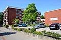 Der Gebäude-Komplex vom Margot-Engelke-Zentrum, Geibelstraße 90 in 30173 Hannover-Südstadt, Blick von Osten.jpg