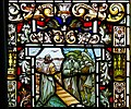 Derry Guildhall Tercentenary Window of The Honourable The Irish Society Detail Arrival of the four citizens from London 2019 08 29.jpg