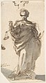 Design for a Statue of Justice with Sketches at Left and Above. MET DP807975.jpg
