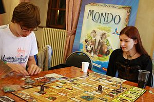 Arkham Horror - A game of Arkham Horror being played in Prague in 2012