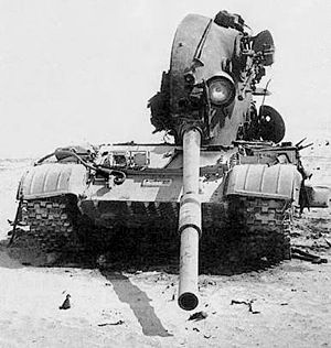 Battle of 73 Easting - Iraqi T-62 knocked out by 3rd Armored Division fire