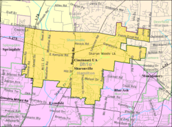 Detailed map of Sharonville