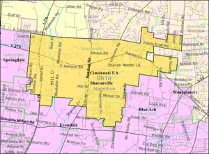 Sharonville, Ohio - Image: Detailed map of Sharonville, Ohio