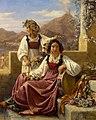 Deux jeunes Napolitaines se parant pour la fête, 1833 by Léopold Robert (1794 -1835).jpg