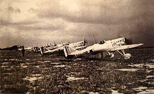 Dewoitine D.500 - D.500 at Reims – Champagne Air Base c.1938