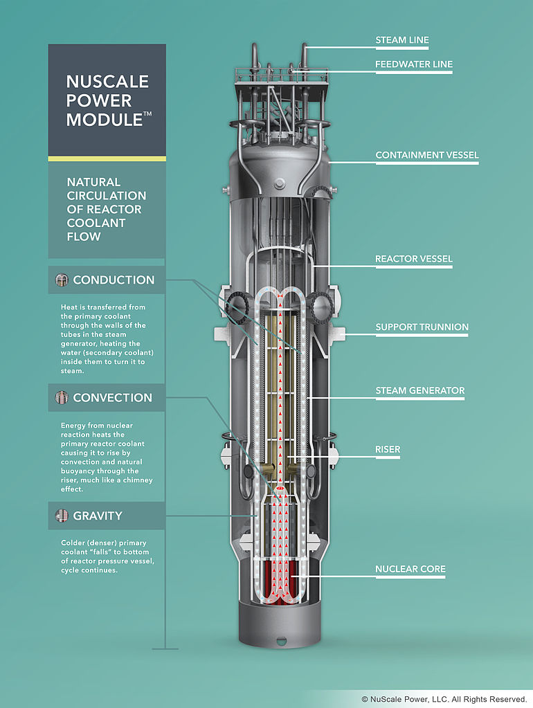 How the NuScale SMR works. Credit: NuScale Power