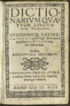 Dictionarium quatuor linguarum 1592 Megiser.png