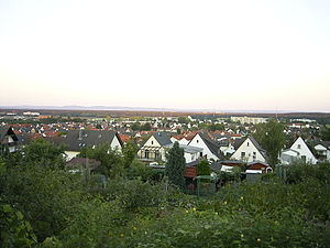 Dietzenbach - The town of Dietzenbach, seen from the Wingertsberg