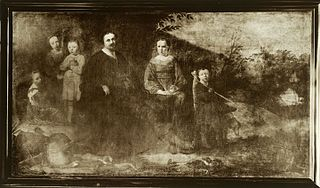 Lucas de Clercq (ca. 1593-1652)  and his family at their summer home 'Clercq en Beeck'