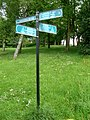 Directional signpost in Bellahouston Park - geograph.org.uk - 1322192.jpg