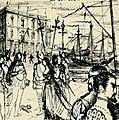 Disegno per copertina di libretto, disegno di Peter Hoffer per Don Sebastiano (s.d.) - Archivio Storico Ricordi ICON012396.jpg