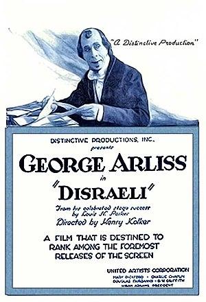 Disraeli (1921 film) - 1921 theatrical poster