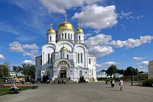 Diveyevo Convent - The new katholikon was built in 1907-1916 to designs by Anatoly Antonov