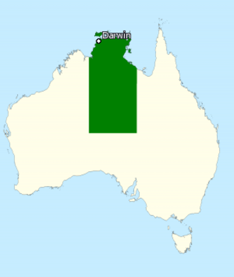 Division of Lingiari - Division of Lingiari in the Northern Territory, as of the 2016 federal election.