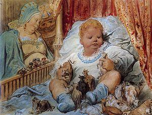 Trois petites pièces montées - Gustave Doré, The Infancy of Pantagruel (1873)