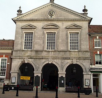 Blandford Forum - The town hall, redesigned in 1734