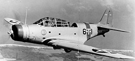 Douglas TBD-1 Devastator of VT-6 in flight, 1938 (80-G-19341).jpg