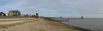 Dovercourt - Image: Dovercourt lighthouses, from south west
