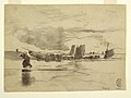 Drawing, Beach at Low Tide, Cullercoats, England, 1881 (CH 18175065).jpg