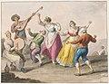 Drawing, Water color; Tarantella dancers, 1828 (CH 18329775).jpg