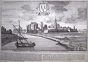 Drawing of Purmerend in the year 1674