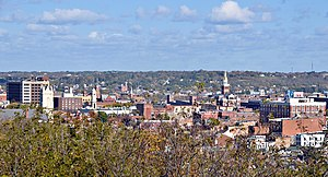Downtown Dubuque, Iowa, Oct 2008.