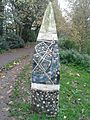 Duke's Meadows way marker with stars and map, 2002.jpg