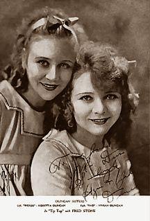 Duncan Sisters American entertainers; vaudeville duo