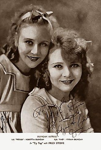 Duncan Sisters - L-R Rosetta and Vivian Duncan c. 1912