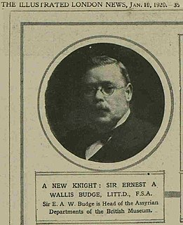 E. A. Wallis Budge British academic