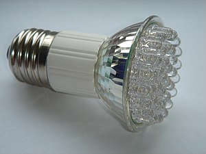 LED spotlight using 38 individual diodes for p...