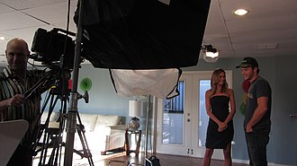 Electronic field production - Electronic Field Production shoot for Extra with DP Mark Schulze videotaping Scott Eastwood and Renee Bargh