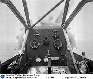 Fairchild FC-2 - Cockpit view from an FC-2W2