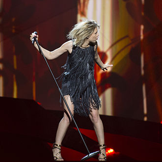 Amandine Bourgeois - Amandine Bourgeois during the Eurovision Song Contest 2013 .