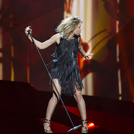 Amandine Bourgeois during the Eurovision Song Contest 2013 . ESC2013 - France 05 (crop).jpg