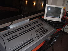 An Express series memory console by Electronic Theatre Controls capable of controlling both normal stage lighting instruments as well as intelligent ... & Lighting control console - Wikipedia azcodes.com