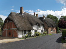 Cottages In The Village Of East Garston England